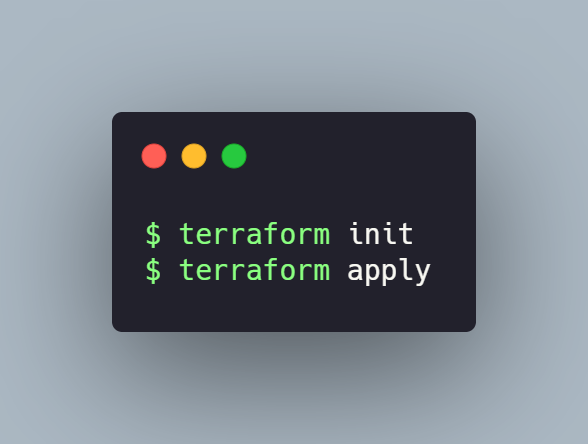 Init and apply the stack with Terraform